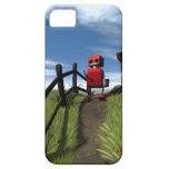 Poco robot rojo iPhone 5 Case-Mate fundas