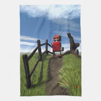 Poco robot rojo toallas de cocina