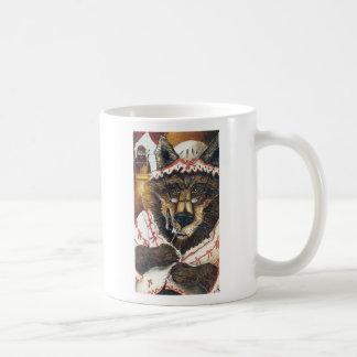 Poco rojo y el lobo taza de café