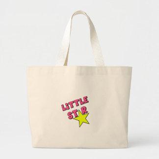 Poco rosa de la estrella bolsa lienzo