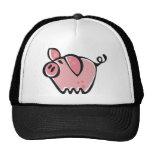 Poco rosa Piggie del dibujo animado Gorro De Camionero