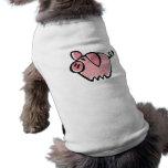 Poco rosa Piggie del dibujo animado Ropa Perro