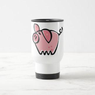 Poco rosa Piggie del dibujo animado Tazas