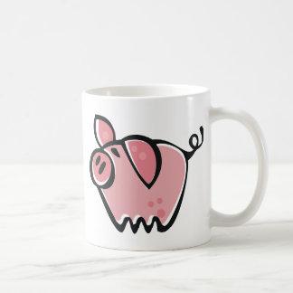Poco rosa Piggie del dibujo animado Taza Básica Blanca