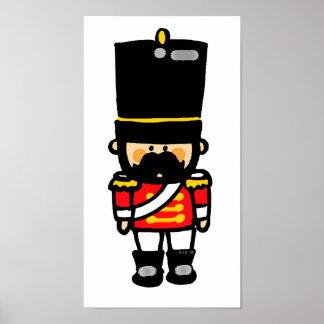 poco soldado de juguete lindo con el bigote posters