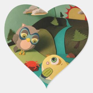 Poco Sr. Fish Stickers del corazón de la estrella Calcomanía De Corazón Personalizadas