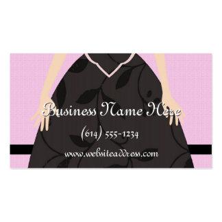 Poco tarjetas de visita negras del vestido
