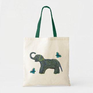 Poco tote de la lona del elefante del jade bolsa tela barata