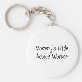 Poco trabajador del consejo de la mamá llavero personalizado