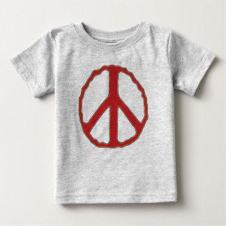 Poco tratante de la paz playera de bebé