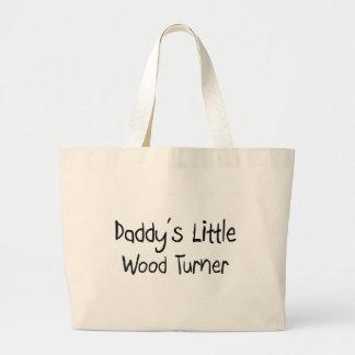 Poco Turner de madera del papá Bolsa De Mano