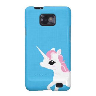 Poco unicornio con el caso rosado de Samsung de la Samsung Galaxy SII Carcasa