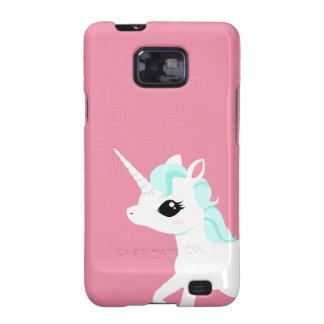 Poco unicornio con la caja azul de Samsung de la Galaxy S2 Carcasa