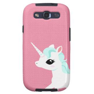 Poco unicornio con la caja azul de Samsung de la m Samsung Galaxy S3 Protectores
