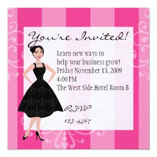 """poco vestido negro invitación 5.25"""" x 5.25"""""""