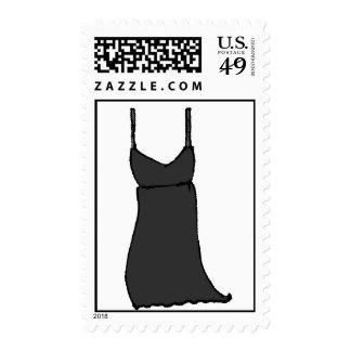 poco vestido negro mini franqueo
