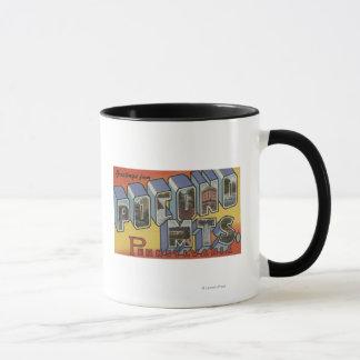Pocono Mountains - Large Letter Scenes Mug
