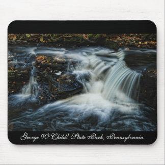 Pocono waterfalls mouse pad