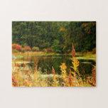 Poconos Autumn Pond Scene Jigsaw Puzzles