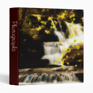 "Poconos Springtime Waterfall Scene 1"" Photo Album Binders"