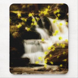 Poconos Springtime Waterfall Scene Mousepad