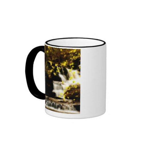 Poconos Springtime Waterfall Scene Mug