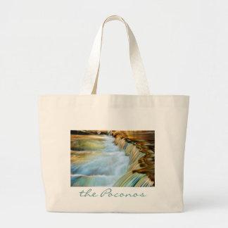Poconos Waterfall Totebag Jumbo Tote Bag