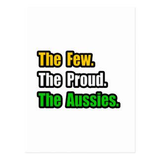 Pocos australianos orgullosos tarjeta postal