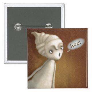 ¡Pocos botones de Halloween del chica del fantasma Pin Cuadrado