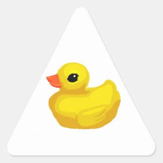 """""""Pocos Ducky de goma """" Pegatina Triangular"""