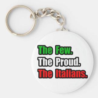 Pocos italianos orgullosos llavero redondo tipo pin