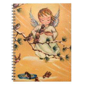 Pocos pájaros de alimentación del ángel notebook