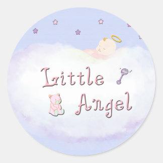 Pocos pegatinas del ángel etiquetas redondas