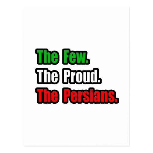 Pocos persas orgullosos postal