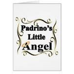 Pocos regalos y ropa del ángel de Padrino Tarjeton