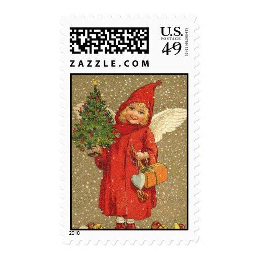 Pocos sellos del navidad del vintage del ángel
