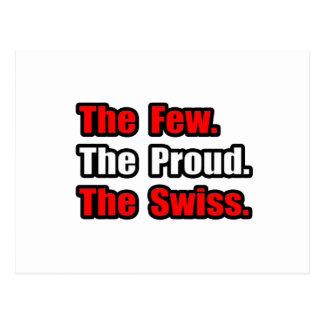 Pocos suizos orgullosos postales