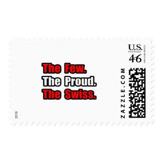 Pocos suizos orgullosos sellos