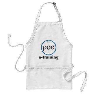 pod-e-training Basic White Utility Apron