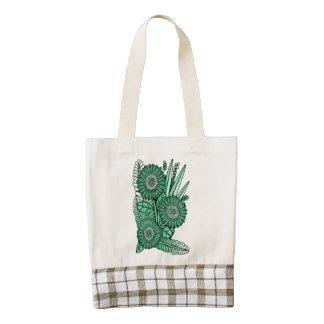 Pod Green Gerbera Daisy Flower Bouquet Zazzle HEART Tote Bag