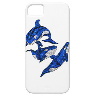 Pod Of 3 Tribal Orcas iPhone SE/5/5s Case