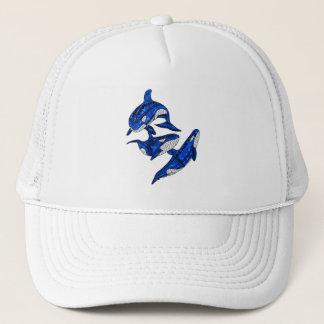 Pod Of 3 Tribal Orcas Trucker Hat