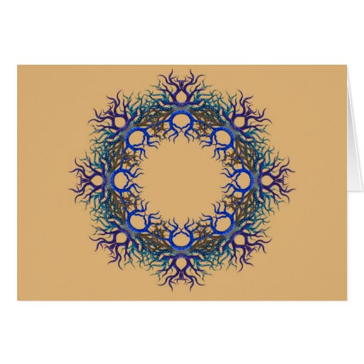 Pod of Life Wreath Greeting Cards