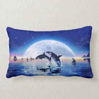 Pod of Orcas Lumbar Pillow