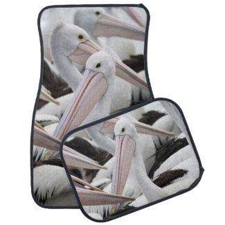Pod of Pelicans Car Floor Mat