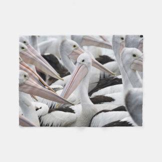 Pod of Pelicans Fleece Blanket