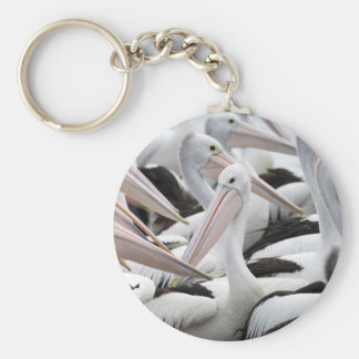 Pod of Pelicans Keychain