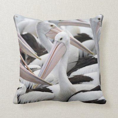 Pod of Pelicans Throw Pillow