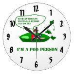 POD Person Round Wall Clocks