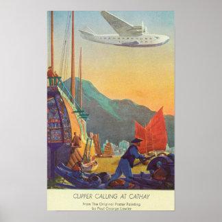Podadoras Cacerola-Americanas que vuelan sobre Chi Póster